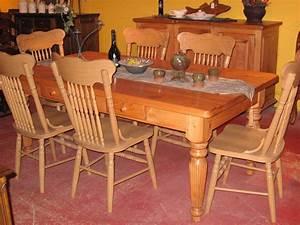 Table De Cuisine En Bois : meubles de salle manger table de bois massif faites sur mesure ~ Teatrodelosmanantiales.com Idées de Décoration