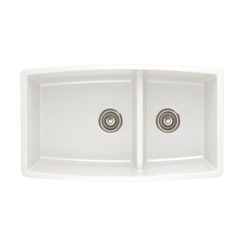 white kitchen sink faucets blanco performa undermount granite composite 33 in 0