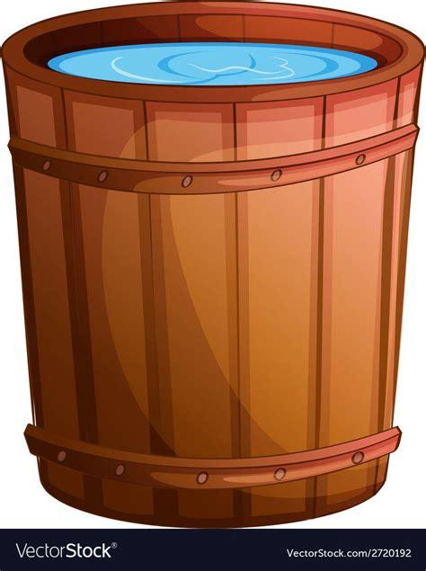 big bucket  water vector image  vectorstock water