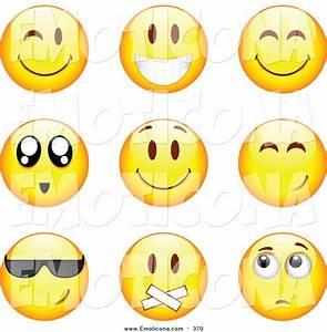 Royalty Free Stock Emoticon Designs of Yellow Smiley Face ...