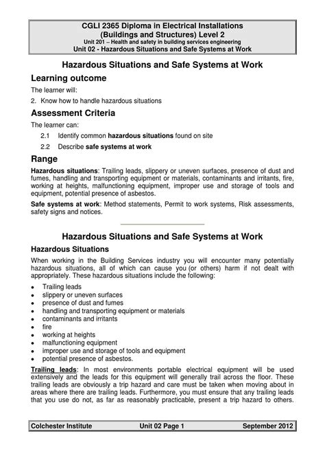 hazardous situations  safe systems