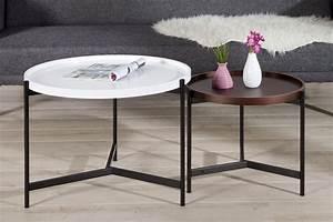 Couchtisch Set Rund : design couchtisch 2er set big fusion vintage look schwarz ~ Whattoseeinmadrid.com Haus und Dekorationen