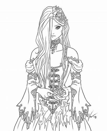 Coloring Pages Adult Goth Colouring Books Chick