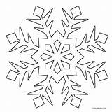 Snowflake Coloring Snowflakes Pages Snow Flakes Printable Christmas Winter Drawing Cool2bkids Flake Frozen Template Simple Sheets Print Cutouts Line Getdrawings sketch template