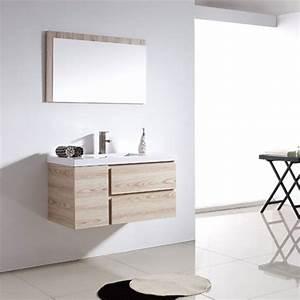 meuble salle de bain bois clair mzaolcom With meuble de salle de bain couleur bois