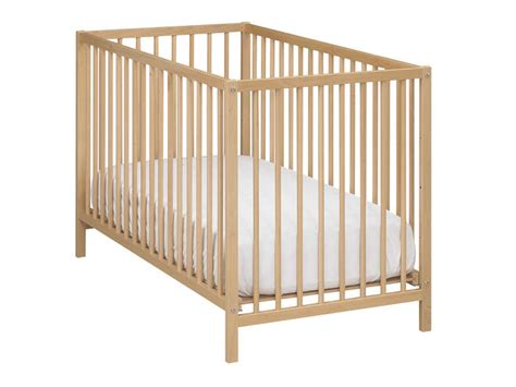 magasin chambre bebe lit bébé 60 x 120 cm calinou coloris hetre vente de lit