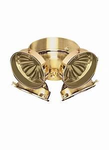 B four light ceiling fan kit polished brass