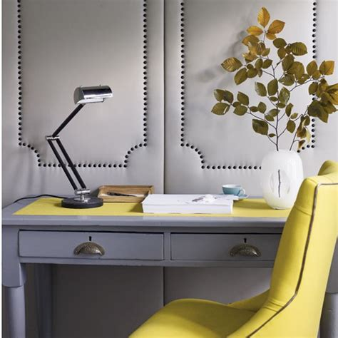 Yellow Office Desk by Vibrant Yellow Home Offices Design Ideas Image