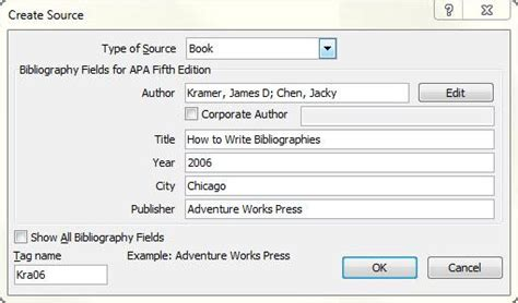 mla chicago automatically format bibliographies word