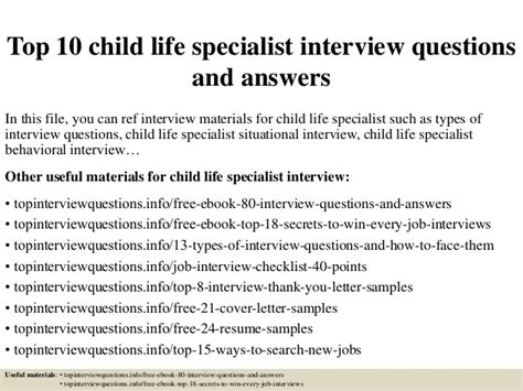 top  child life specialist interview questions  answers