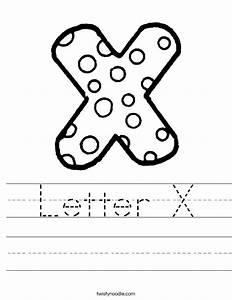 Letter X Worksheet - Twisty Noodle