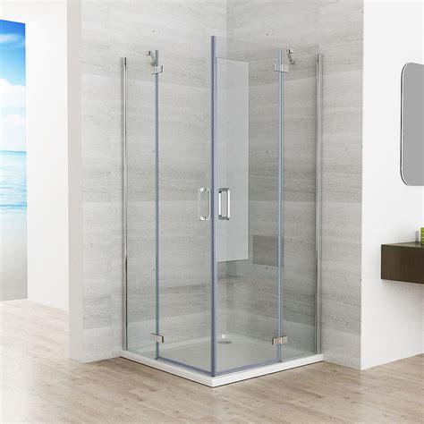 duschabtrennung glas 90x90 duschkabine eckeinstieg duschwand duschabtrennung nano glas 80x80 90x90 100x100 ebay