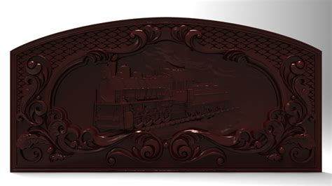 printable model steam locomotive bas relief  cnc