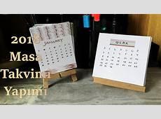 2018 Kolay Takvim Yapımı DIY Calendar YouTube