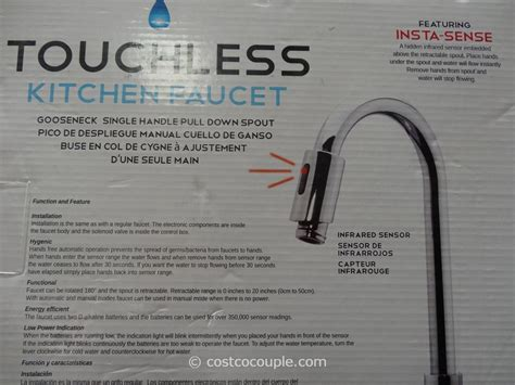 royal  touchless chrome kitchen faucet