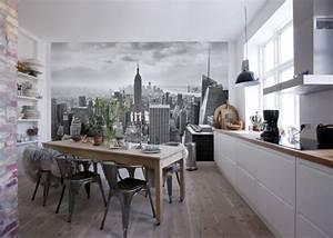 Papier Peint Cuisine Moderne : papier peint new york pour un int rieur moderne et original ~ Dailycaller-alerts.com Idées de Décoration