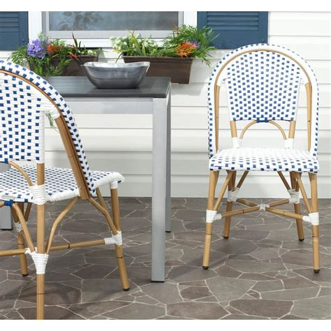 Safavieh Outdoor Furniture by Safavieh Salcha Blue And White Outdoor Dining Chair Pack