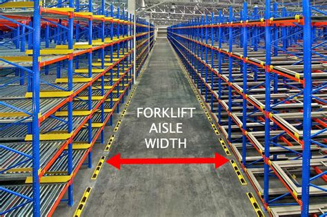 forklift aisle widths   warehouse   types