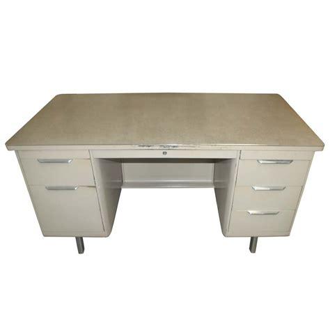 metal desk for 5ft vintage metal tank desk pedestal ebay