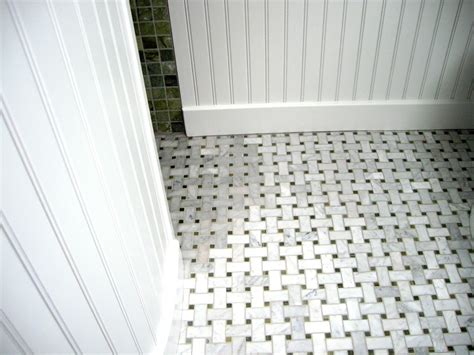 marble basketweave floor tile carrera marble tile discoloring