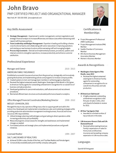 Professional Cv Format by 5 Cv Professional Format Theorynpractice