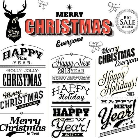 Christmas icons and vector packs for sketch, adobe illustrator, figma and websites. Free Merry Christmas & Happy New Year Text Styles Vector ...
