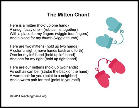 winter songs for preschoolers 151 | The Mitten Chant