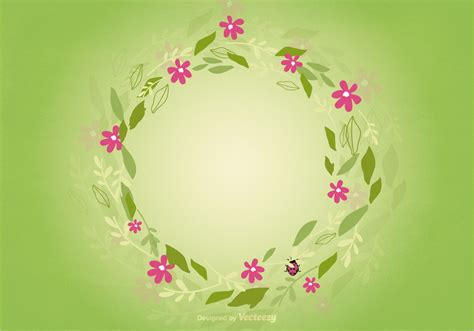 floral wreath background   vector art stock