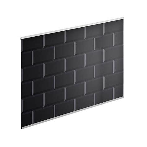 pose de faience cuisine crédence verre carrelage métro noir h 45 cm x l 80 cm