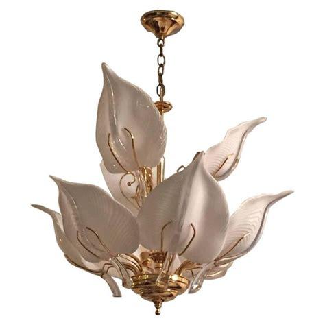 calla lily table l italian mid century murano glass calla lilies chandelier