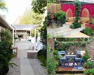 design exterieur petit jardin coin repas meubles bleu With idees amenagement jardin exterieur 0 petit jardin idees damenagement deco et astuces pratiques
