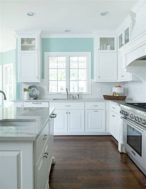 blue kitchen walls white cabinets best 25 kitchens ideas on coastal 7941