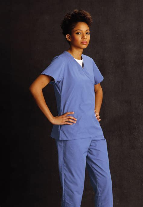 ceil blue scrubs landau landau scrubs scrub zone 70224 scrubzone 70224 faux wrap tunic