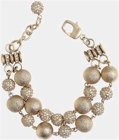 st john collection brushed gold crystal bracelet  gold