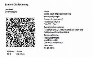 Rechnung Schweiz : qr rechnung spezifikationen zum neuen einzahlungsschein ~ Themetempest.com Abrechnung