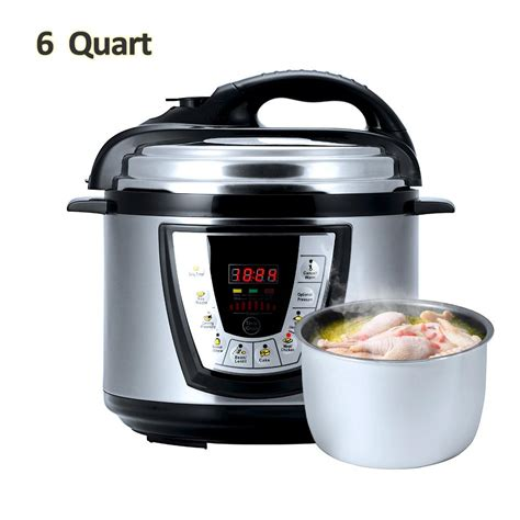 cooker pressure electric multi cooking aucma inner qt pot stick non digital intelligent fast rice 6qt kitchen living programmable modes