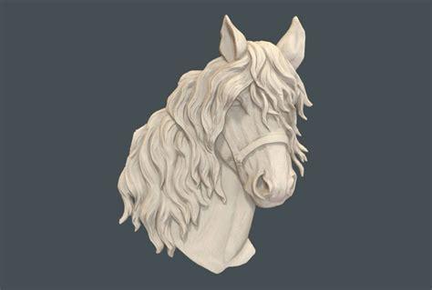 horse head  relief model  stl format cnc router