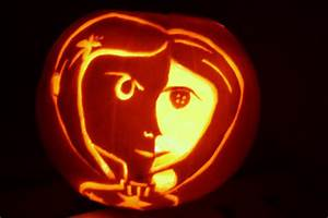 red rapunzel coraline pumpkin With rapunzel pumpkin template
