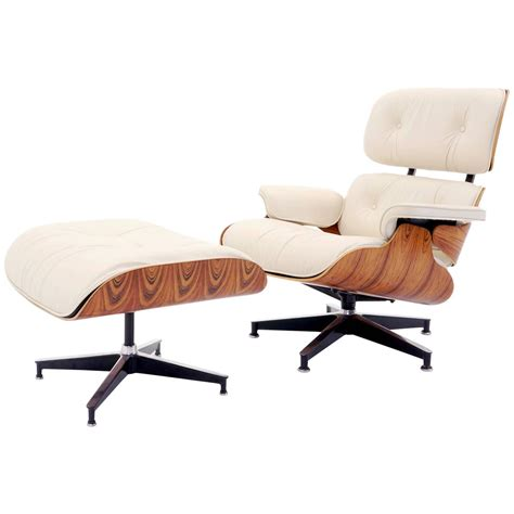 vintage rosewood eames lounge chair and ottoman with new