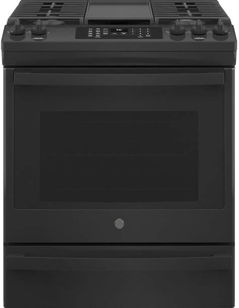ge  black  black   convection gas range jgsdpbb spencers tv appliances