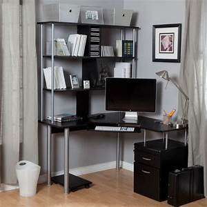 Bureau Avec étagère : un bureau informatique d 39 angle quel bureau choisir pour votre petit office ~ Preciouscoupons.com Idées de Décoration