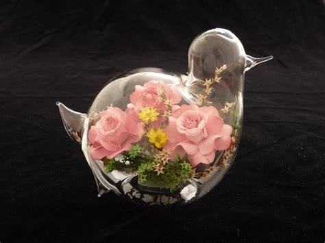 fiori in vetro fiori di vetro composizione di fiori finti