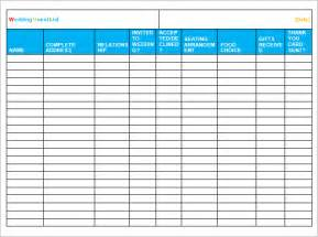 wedding guest list sle wedding guest list template 15 free documents in word pdf excel