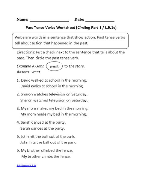 17 best images of past tense verb worksheet grade 2 past