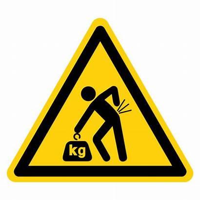 Lifting Vector Hazard Symbol Ergonomics Sign Icons