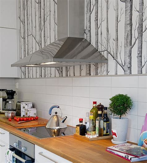 papiers peints pour cuisine cuisine où poser papier peint pour un maximum d