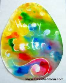 easter deviled egg plate preschool crafts for kids rainbow wax resist easter egg