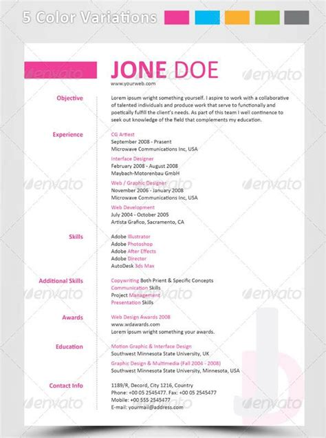 Awesome Psd Resume Templates by 286 Best Images About Cv On Cool Resumes