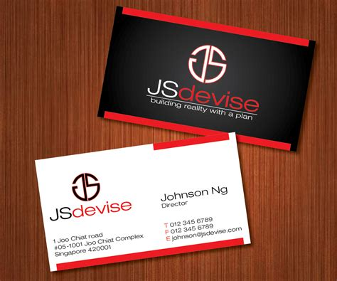 15% off with code zazpartyplan. 191 Elegant Playful Contractor Business Card Designs for a Contractor business in Singapore