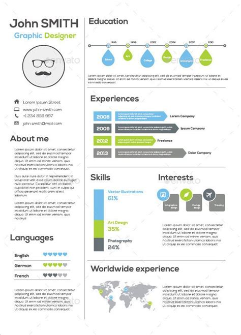 infographic resume template  graphic infographic